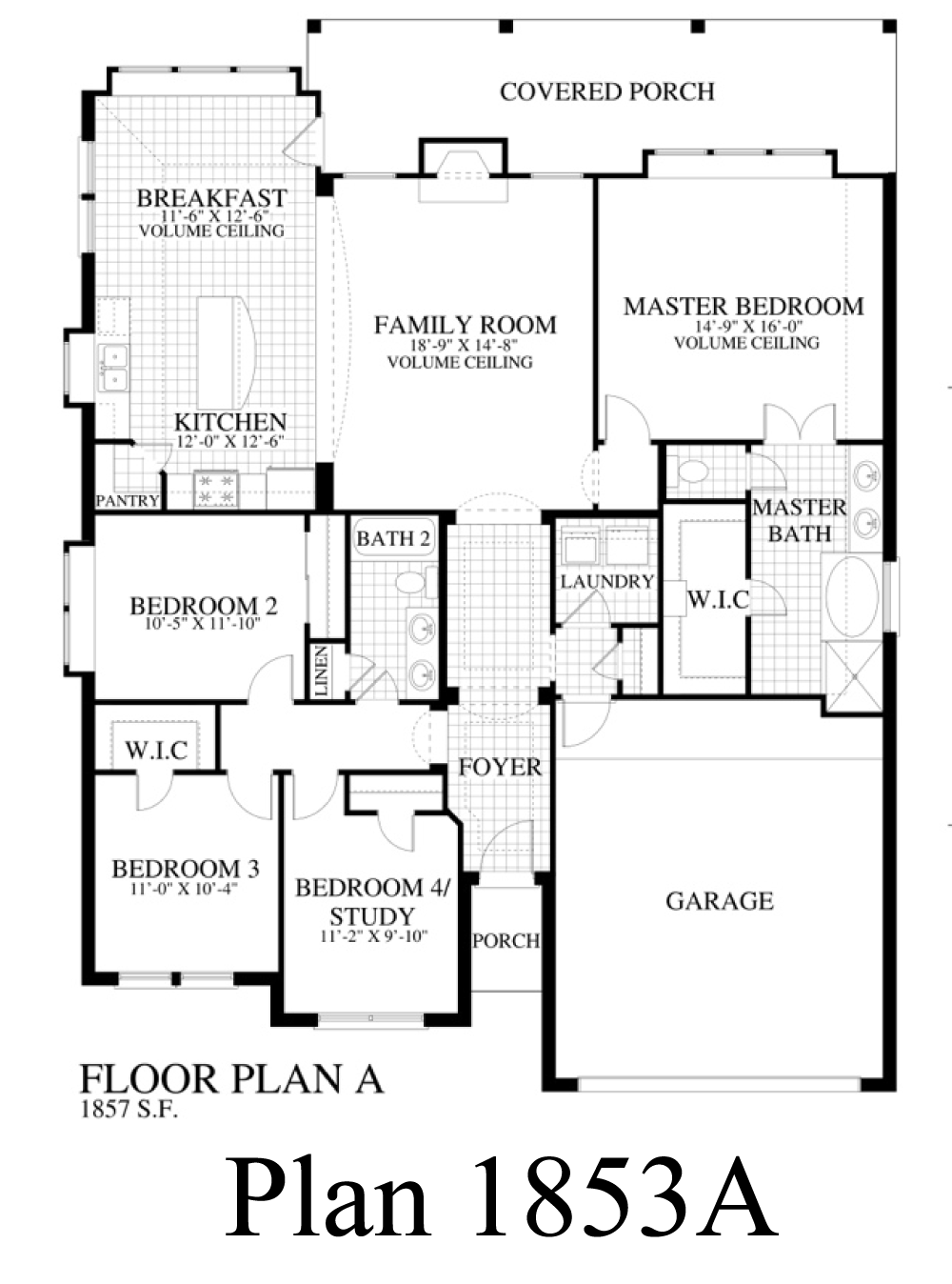 Plan 1853a Saratoga Homes Austin