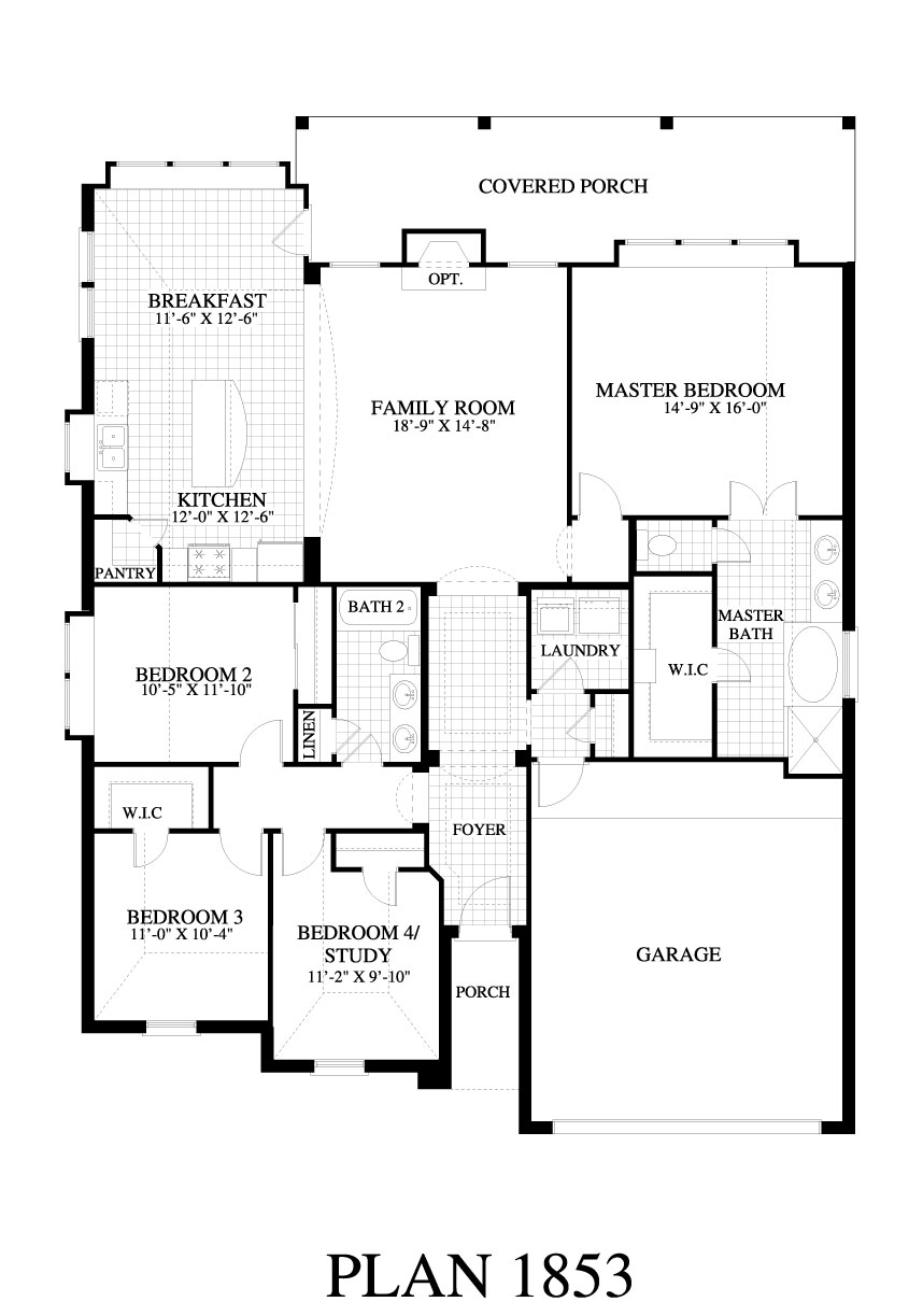 Plan 1853b saratoga homes austin for Austin home plans