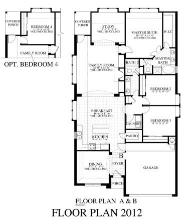 Plan 2012b saratoga homes austin for Saratoga homes floor plans