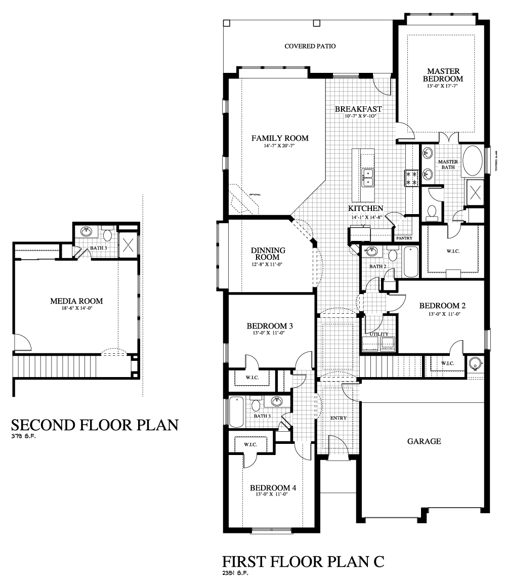 Plan 2311c mr saratoga homes austin for Home builders floor plans