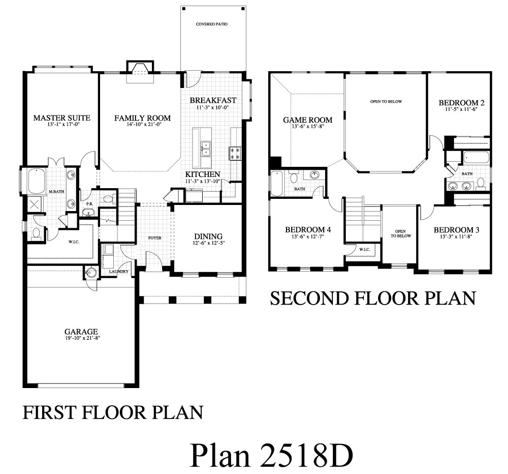 Plan 2518d Saratoga Homes Austin