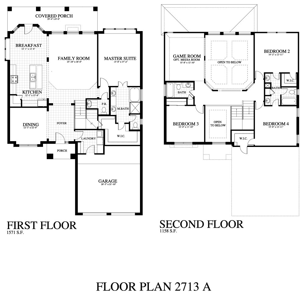 Plan 2713a Saratoga Homes Austin