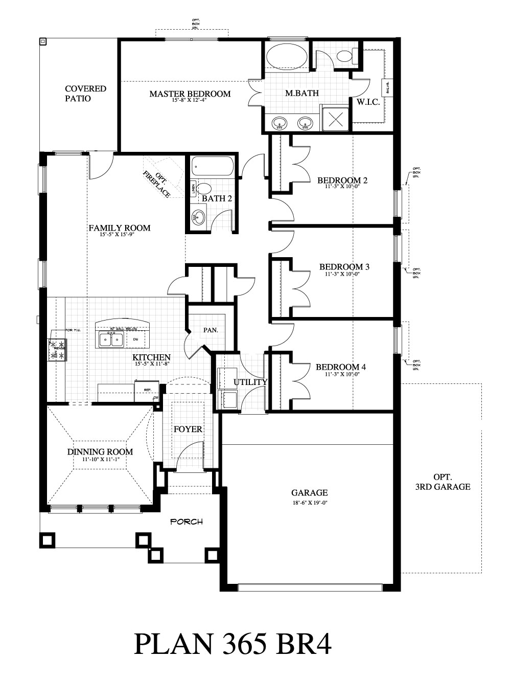 Plan 365c saratoga homes austin for Austin home plans