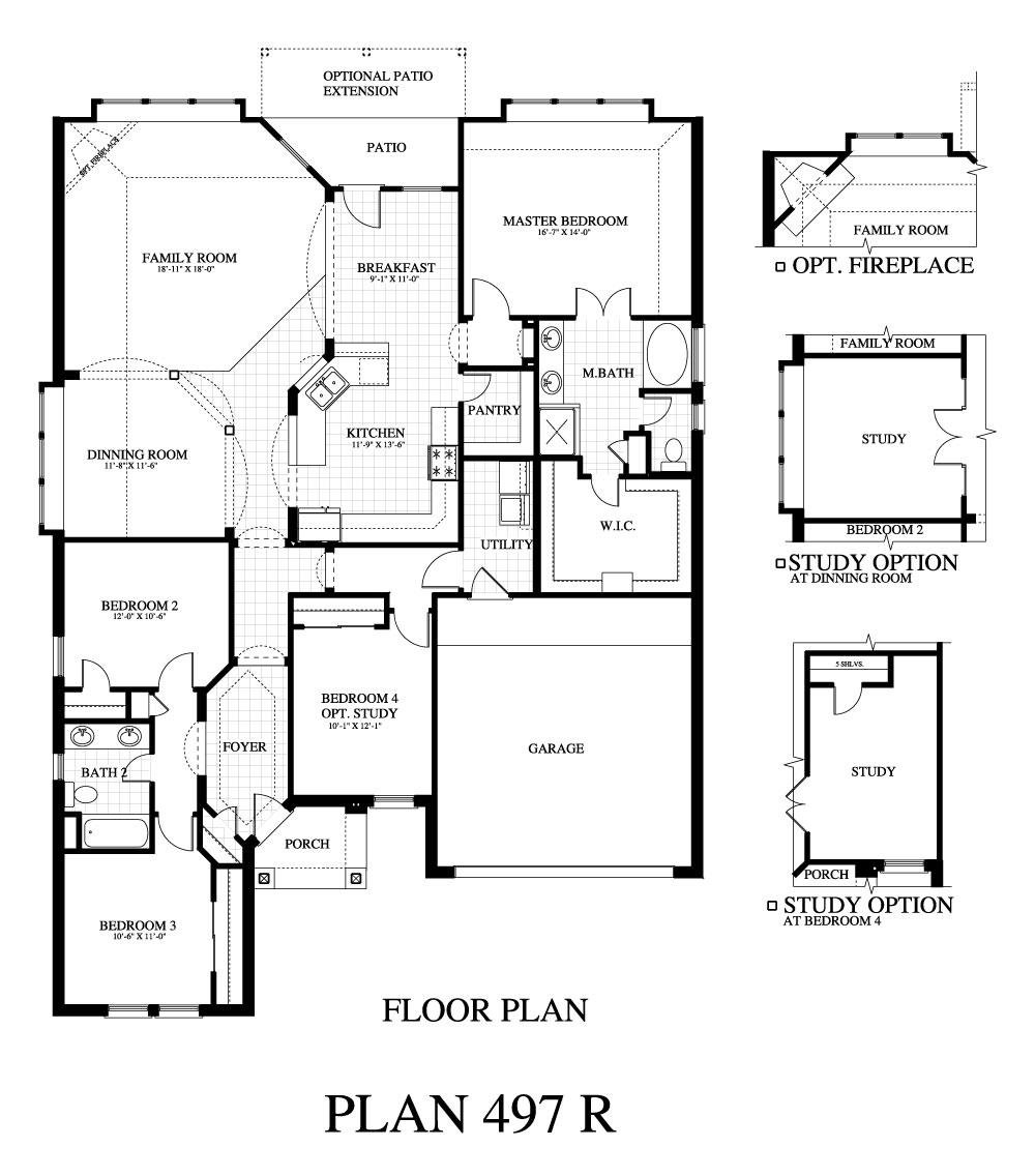 Plan 497b saratoga homes austin for Saratoga homes floor plans