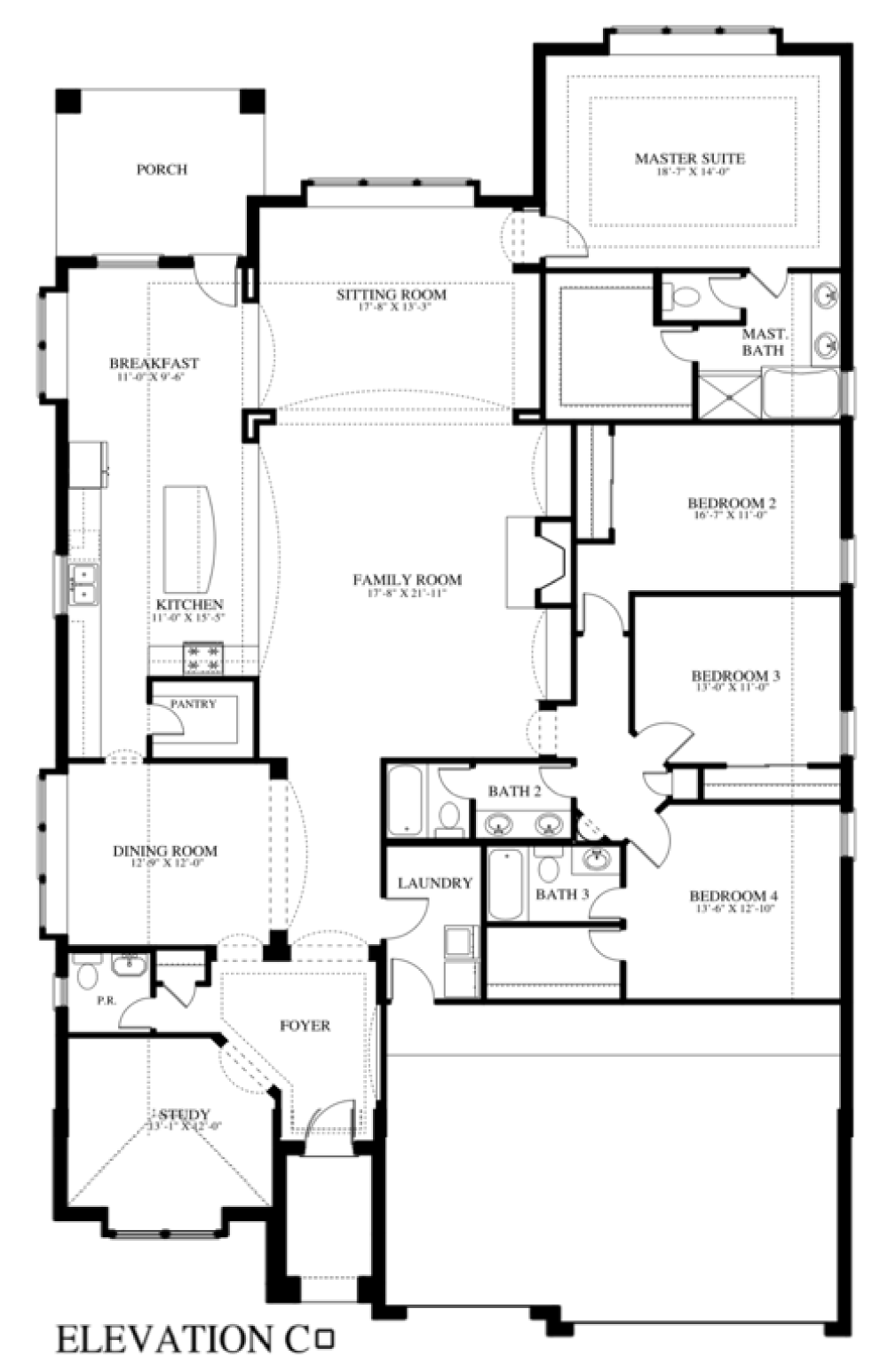Plan 507c saratoga homes austin for Camella homes design with floor plan